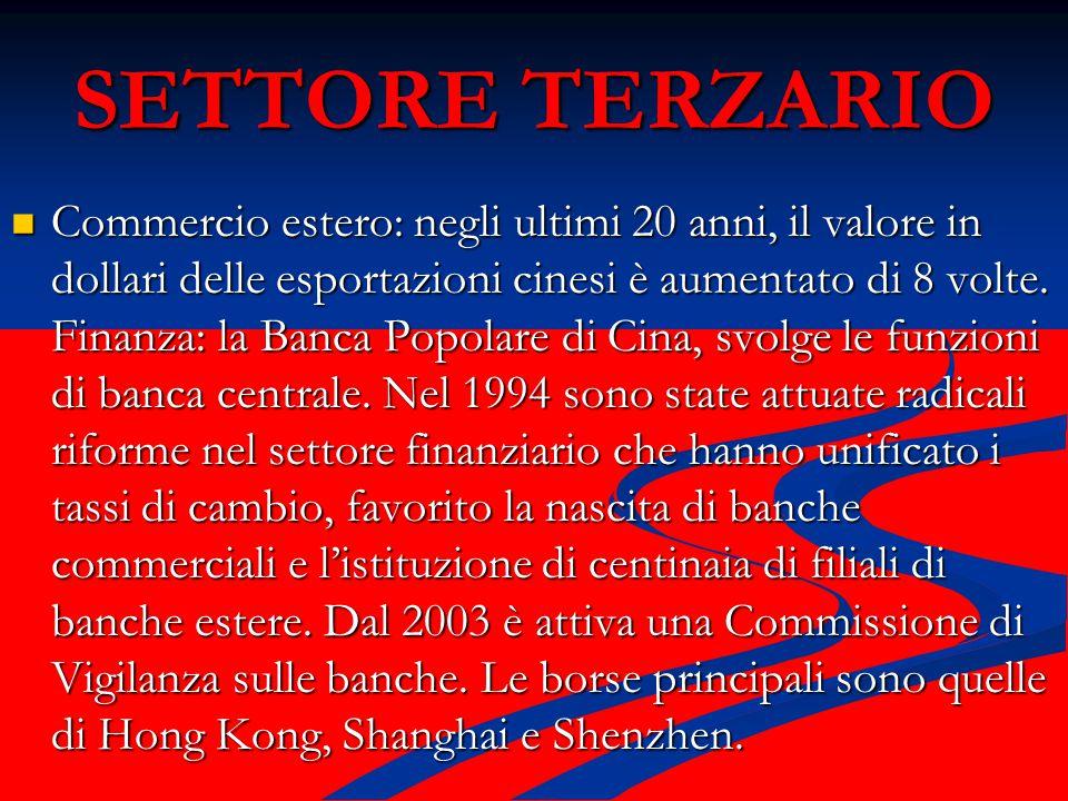 SETTORE TERZARIO