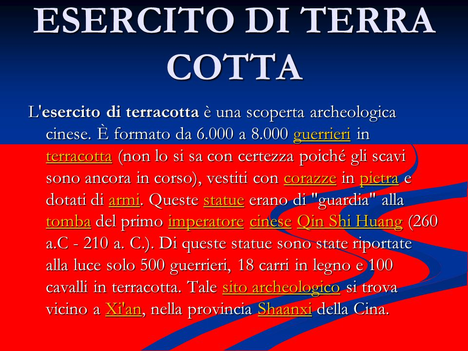 ESERCITO DI TERRA COTTA