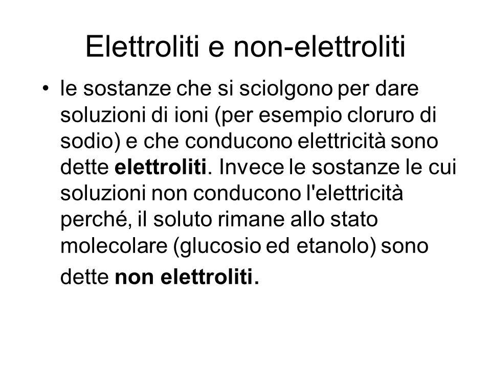 Elettroliti e non-elettroliti