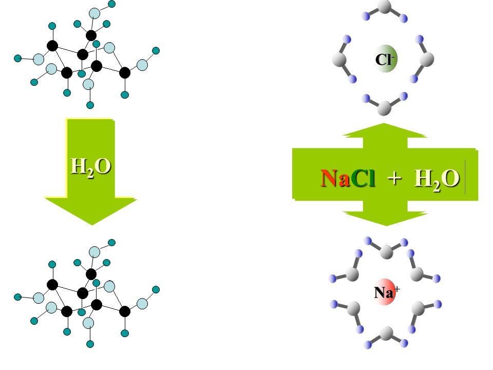 Cl- H2O NaCl + H2O Na+