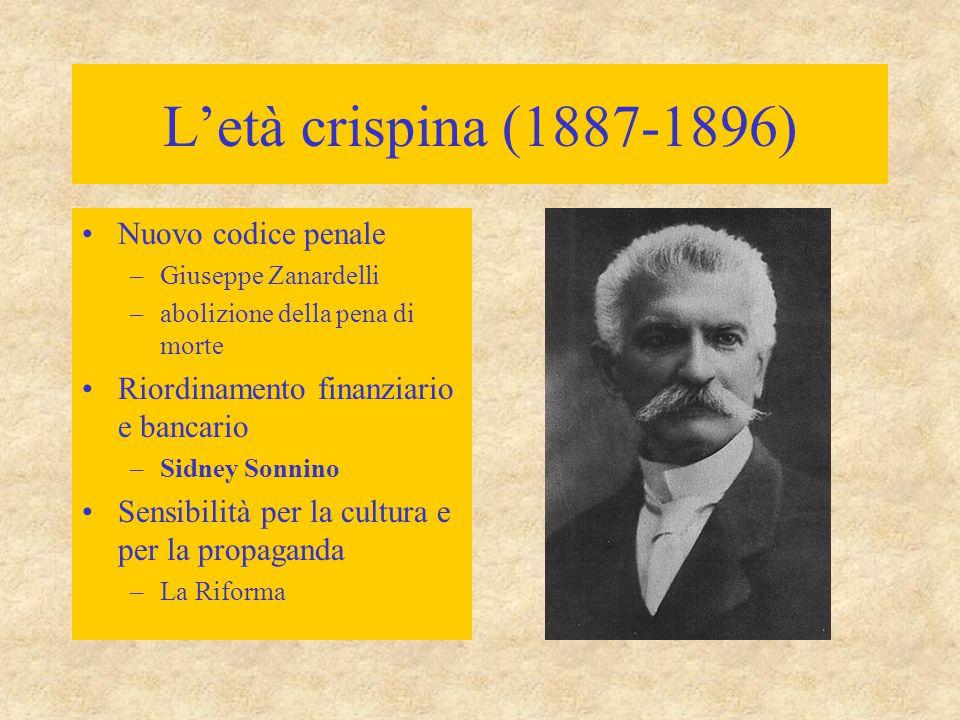 L'età crispina (1887-1896) Nuovo codice penale