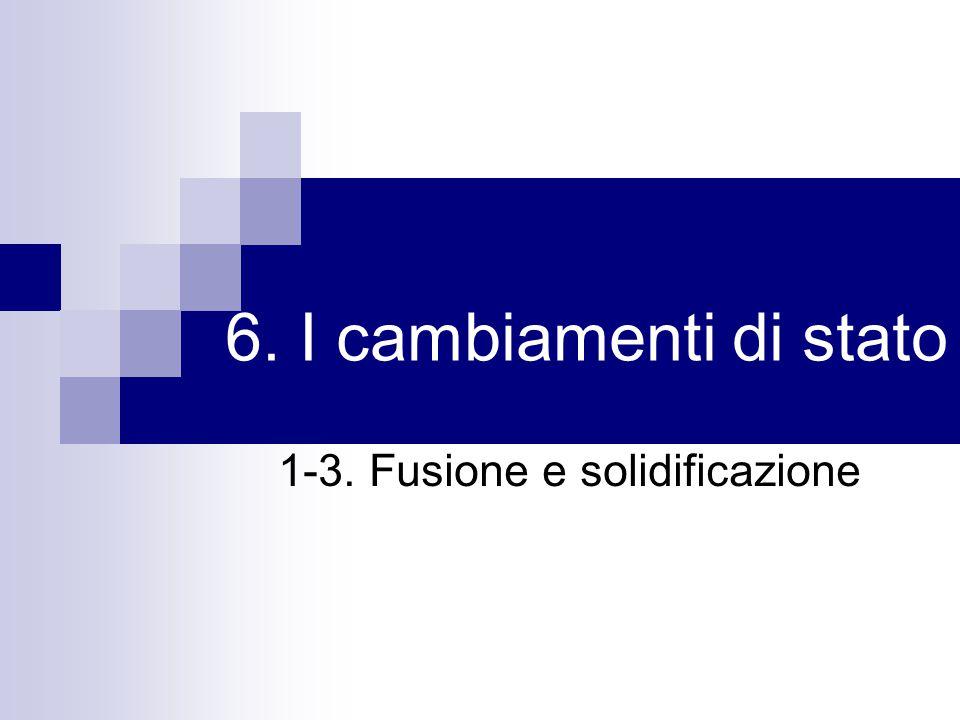 1-3. Fusione e solidificazione