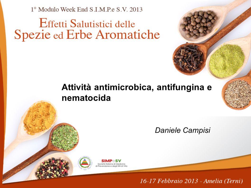 Attività antimicrobica, antifungina e nematocida