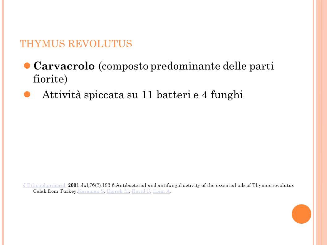 Carvacrolo (composto predominante delle parti fiorite)