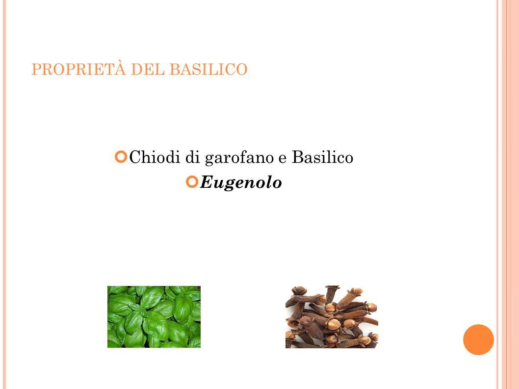 Chiodi di garofano e Basilico