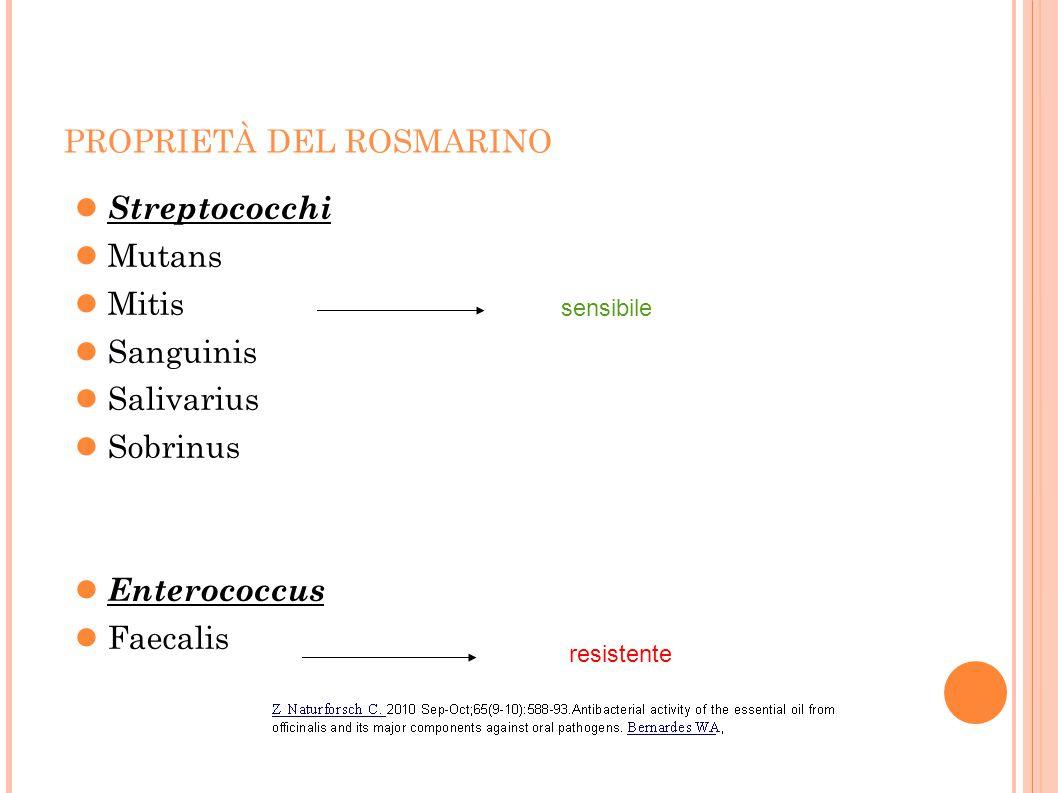PROPRIETÀ DEL ROSMARINO