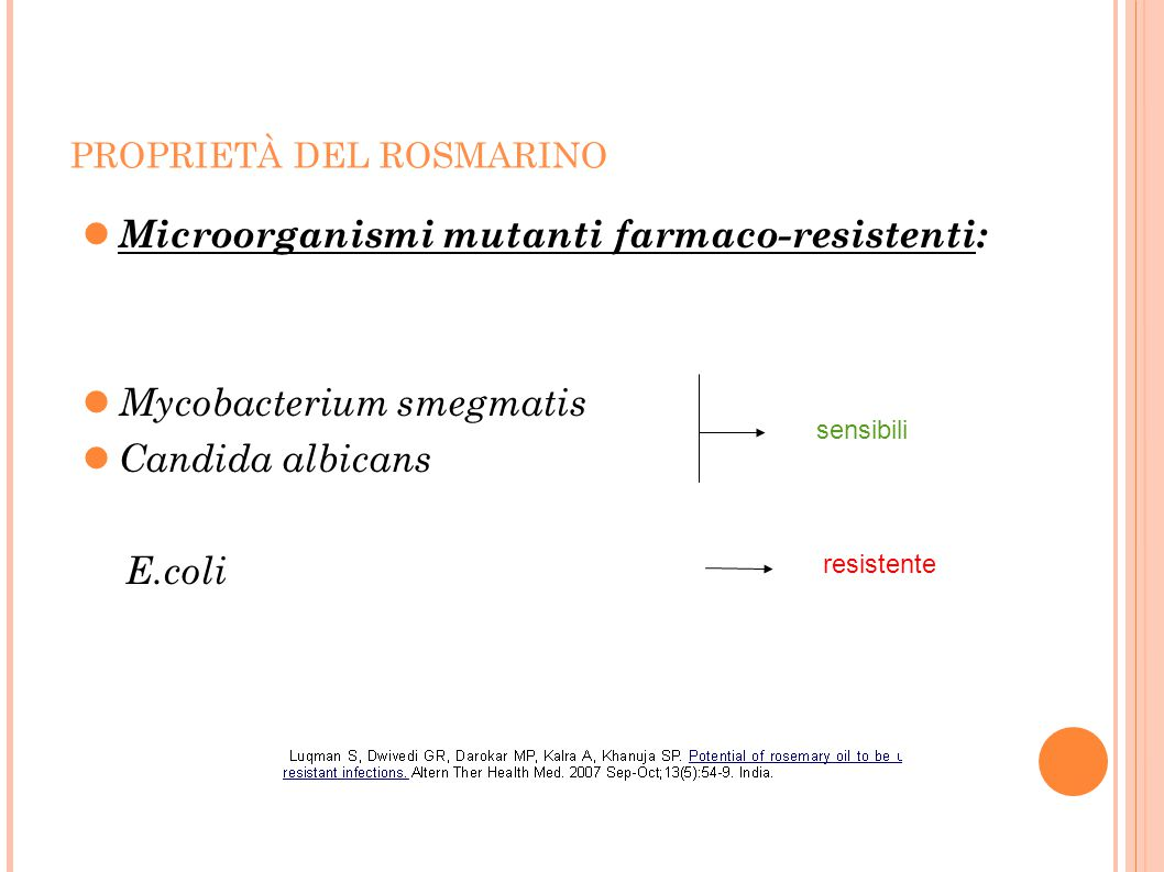 Microorganismi mutanti farmaco-resistenti: