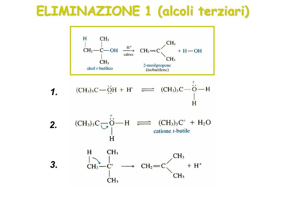 ELIMINAZIONE 1 (alcoli terziari)