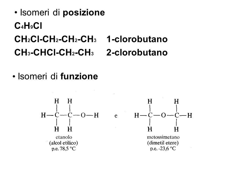 Isomeri di posizione C4H9Cl