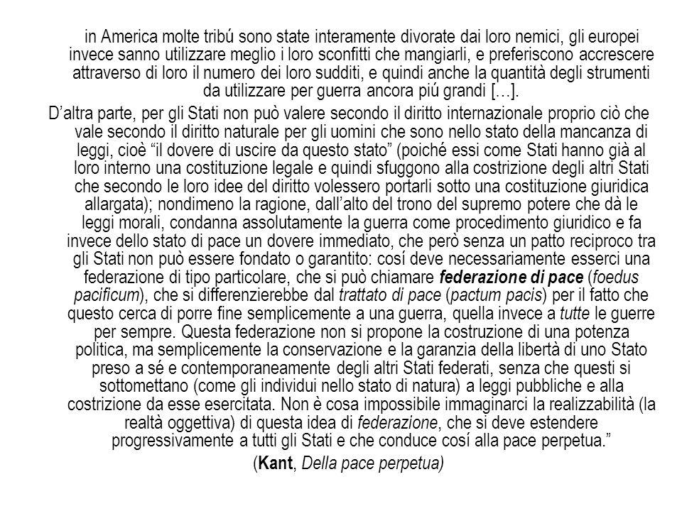 (Kant, Della pace perpetua)