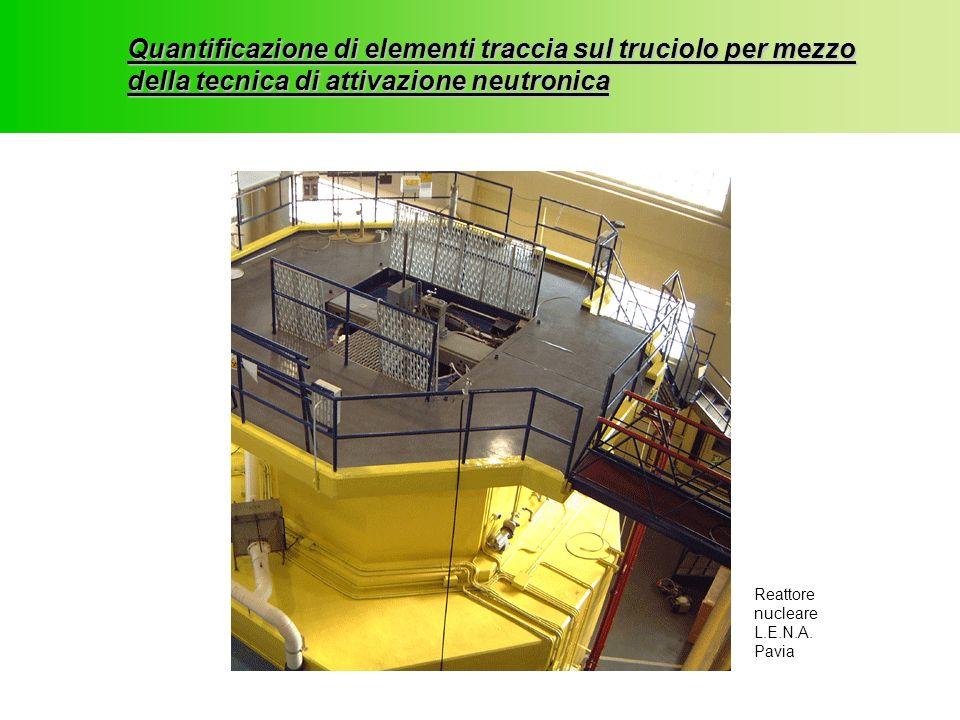 Quantificazione di elementi traccia sul truciolo per mezzo della tecnica di attivazione neutronica