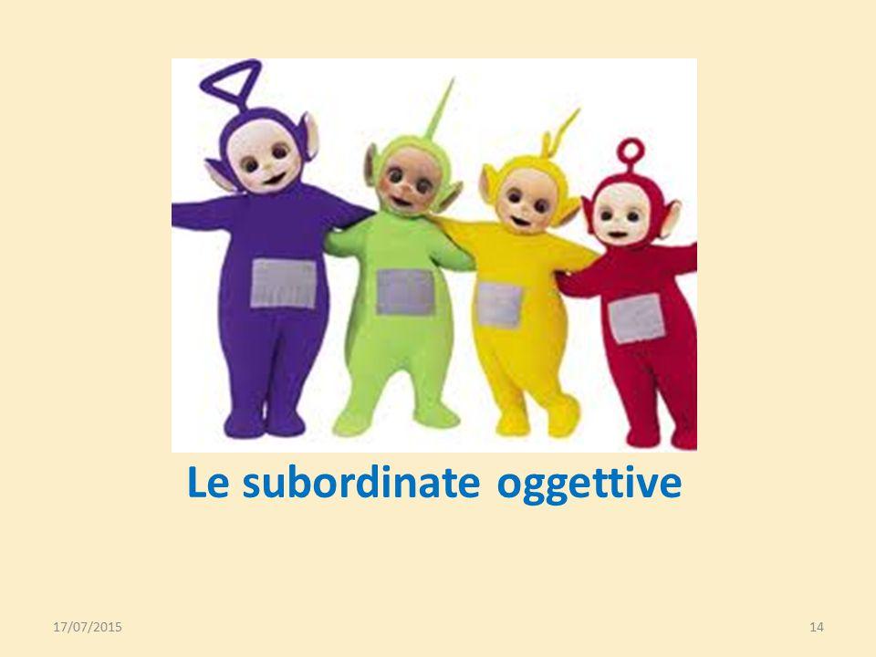 Le subordinate oggettive
