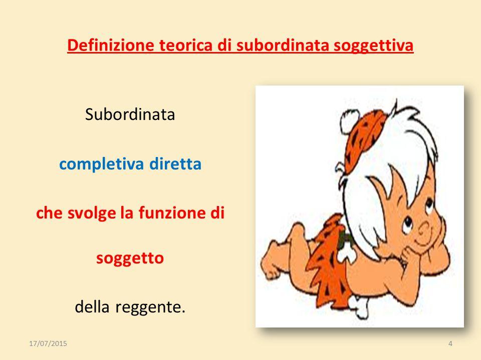 Definizione teorica di subordinata soggettiva