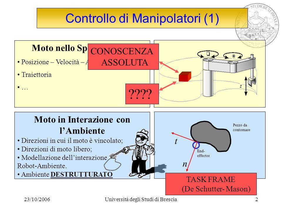 Controllo di Manipolatori (1)