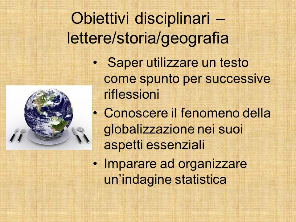 Obiettivi disciplinari – lettere/storia/geografia