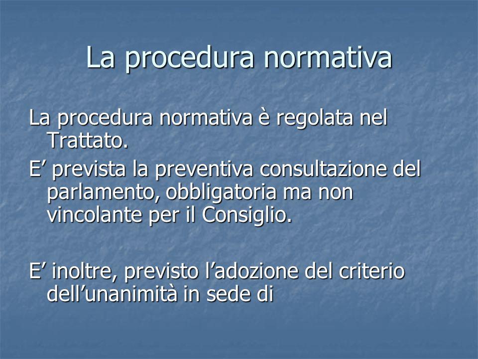 La procedura normativa