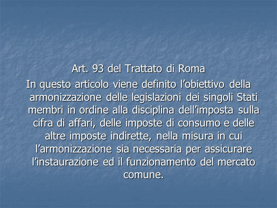 Art. 93 del Trattato di Roma