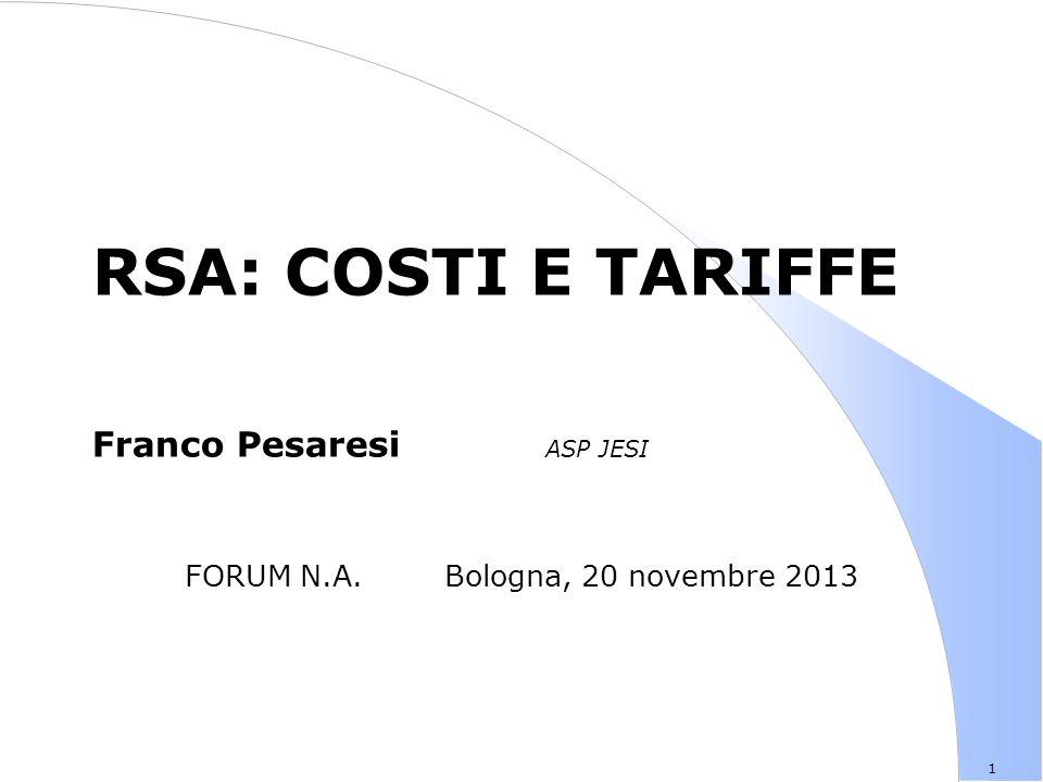 FORUM N.A. Bologna, 20 novembre 2013