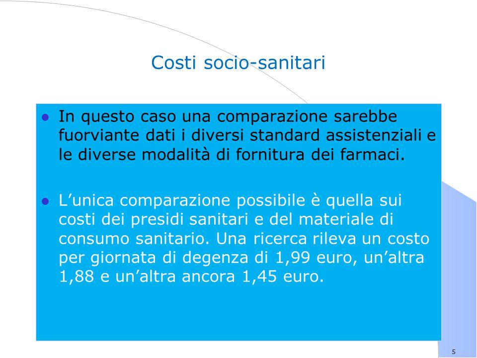 Costi socio-sanitari