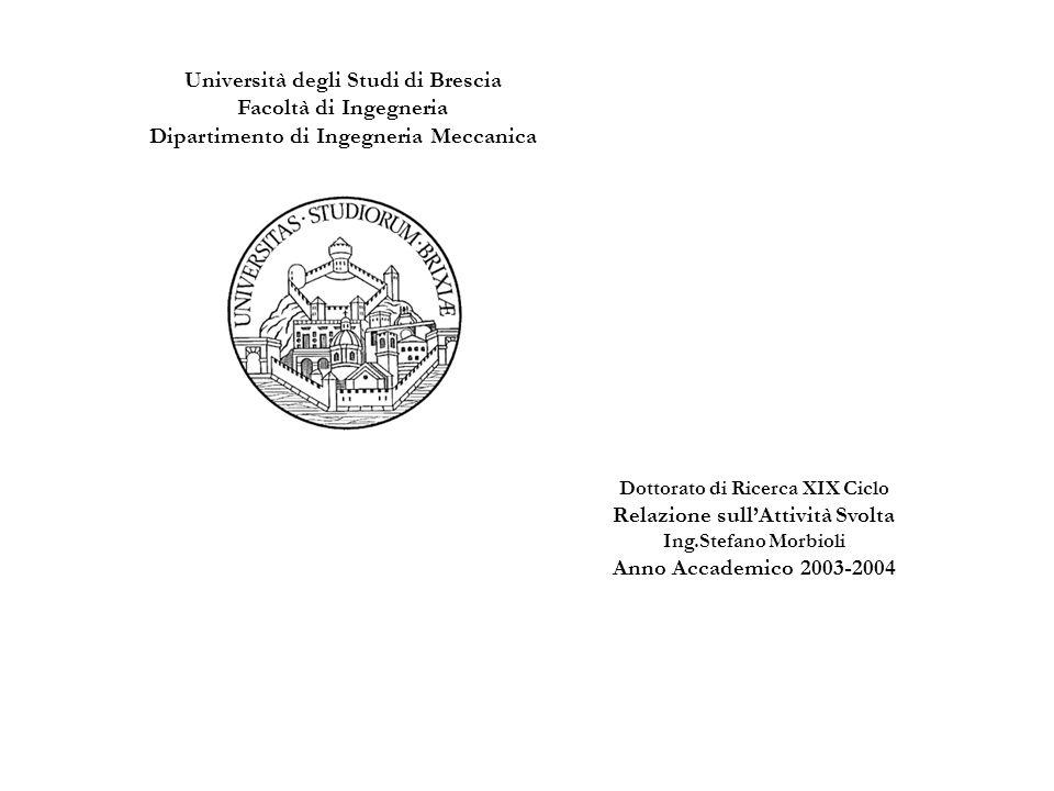 Università degli Studi di Brescia Facoltà di Ingegneria