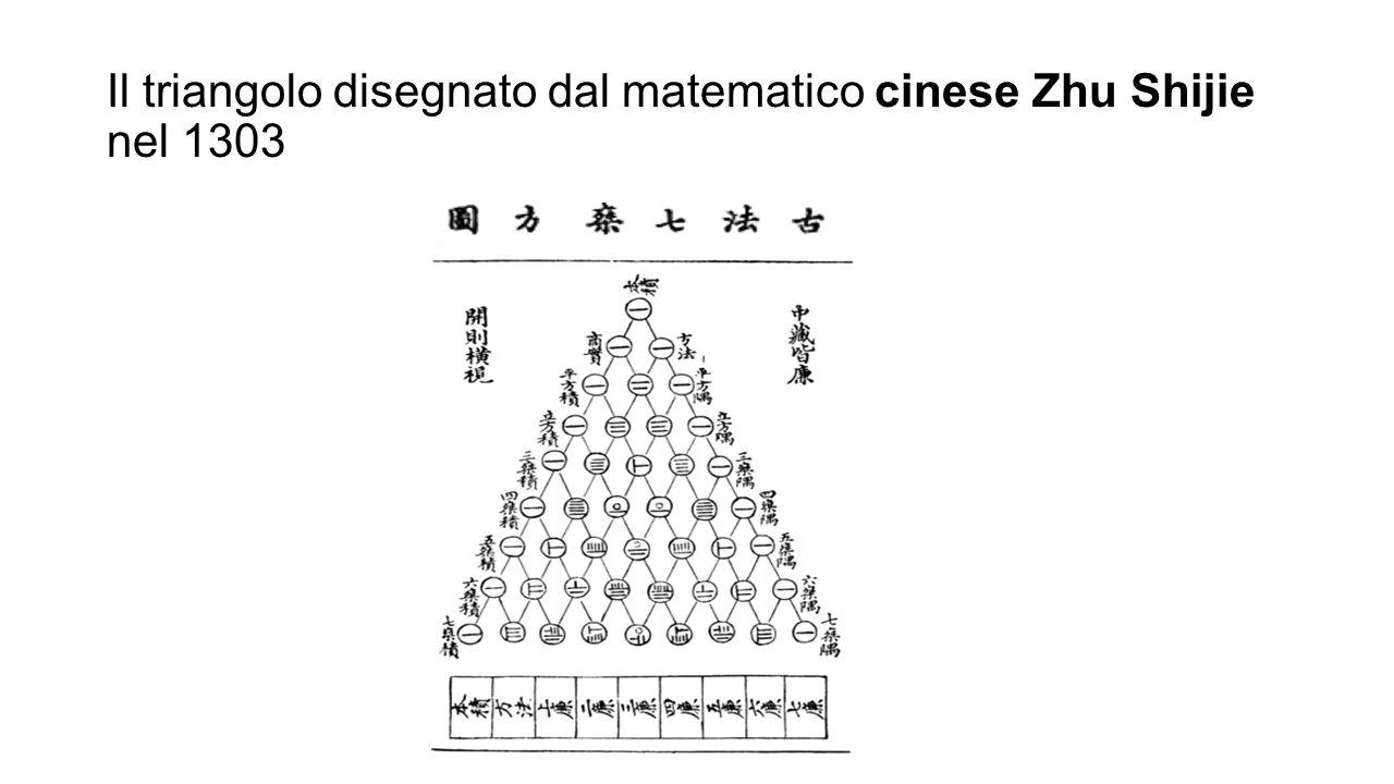 Il triangolo disegnato dal matematico cinese Zhu Shijie nel 1303