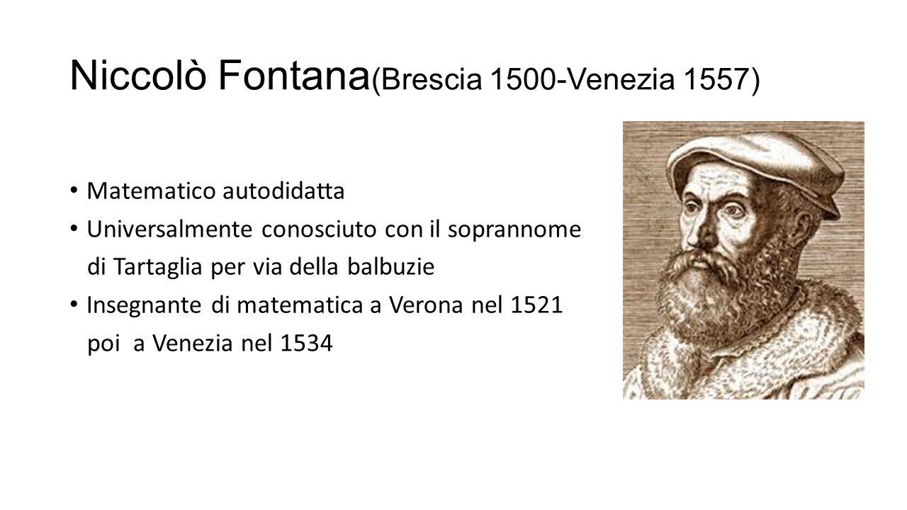 Niccolò Fontana(Brescia 1500-Venezia 1557)