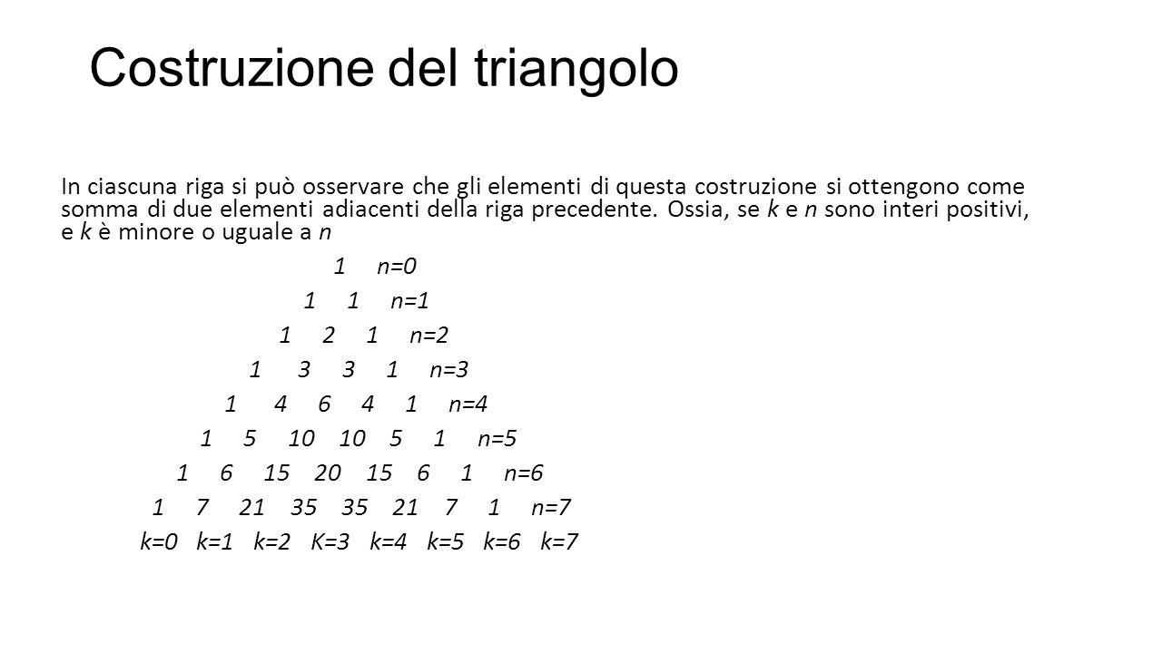 Costruzione del triangolo