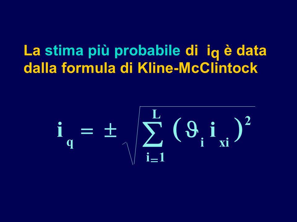 La stima più probabile di iq è data dalla formula di Kline-McClintock