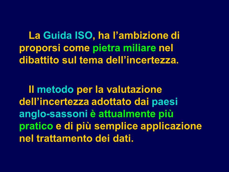 La Guida ISO, ha l'ambizione di proporsi come pietra miliare nel dibattito sul tema dell'incertezza.