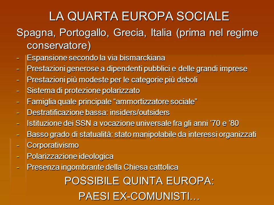 LA QUARTA EUROPA SOCIALE