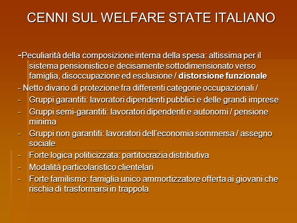 CENNI SUL WELFARE STATE ITALIANO