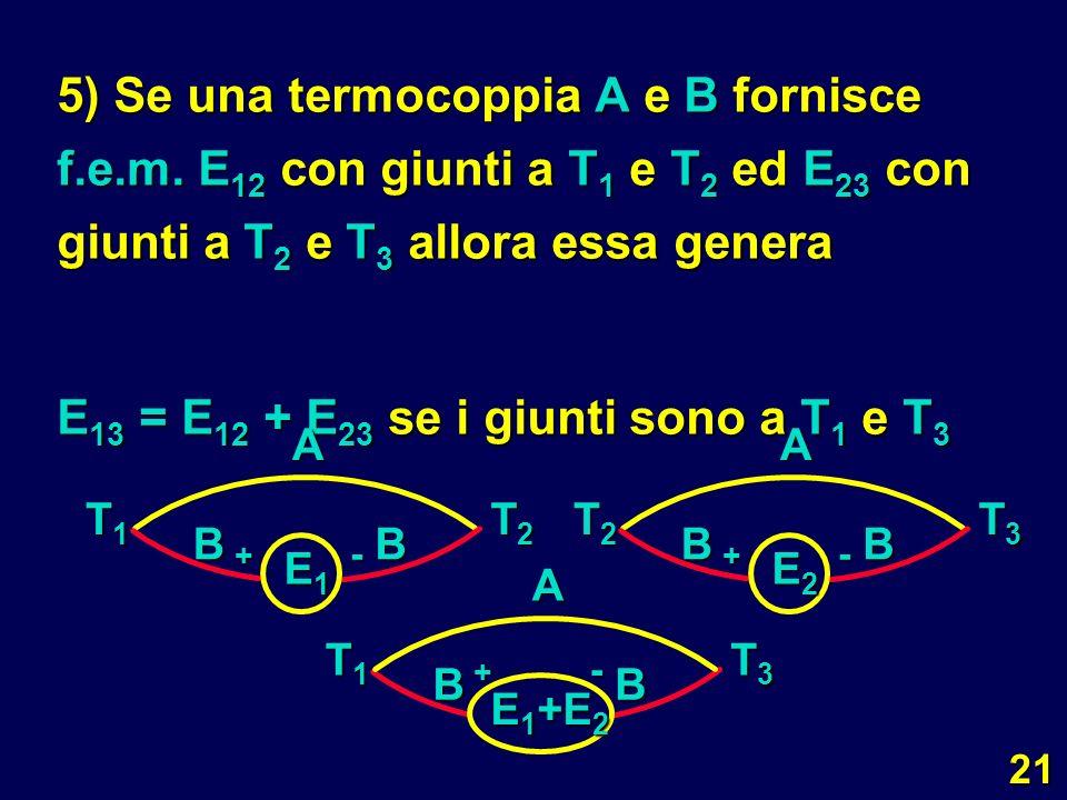 E13 = E12 + E23 se i giunti sono a T1 e T3