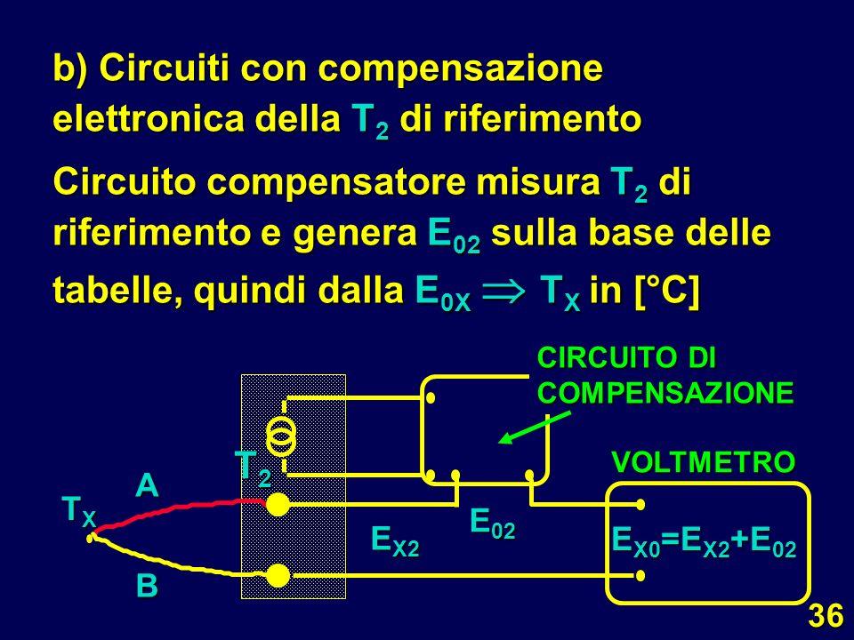 b) Circuiti con compensazione elettronica della T2 di riferimento
