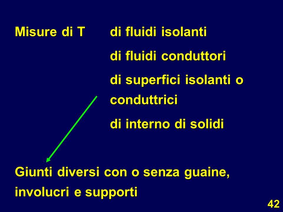 Misure di T di fluidi isolanti