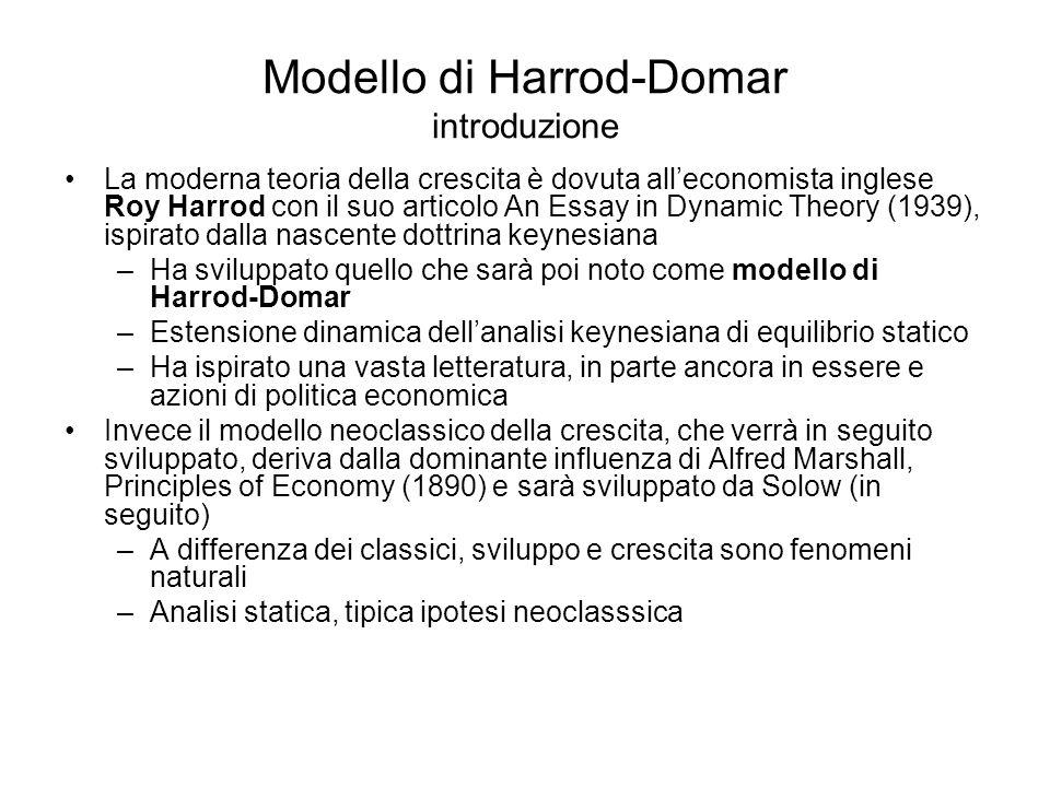 Modello di Harrod-Domar introduzione