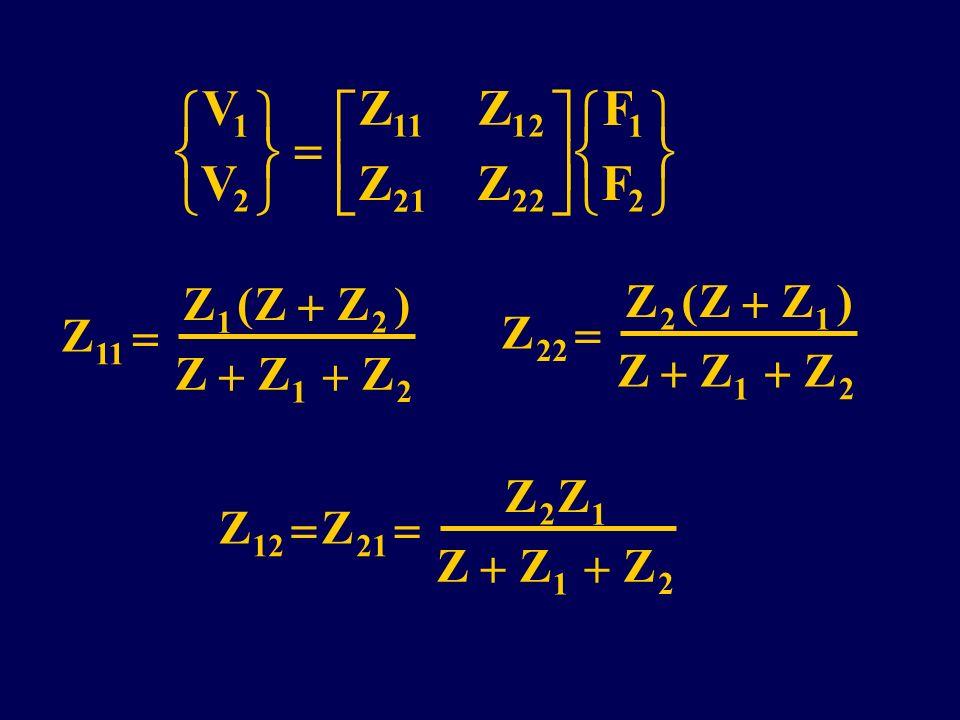 V Z F              Z   ( ) Z   ( ) Z   1 2 11 12 21