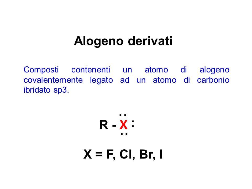 Alogeno derivati : : R - X : X = F, Cl, Br, I