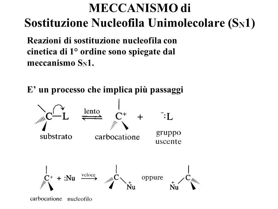 MECCANISMO di Sostituzione Nucleofila Unimolecolare (SN1)