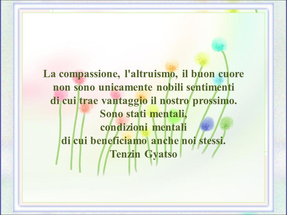 La compassione, l altruismo, il buon cuore