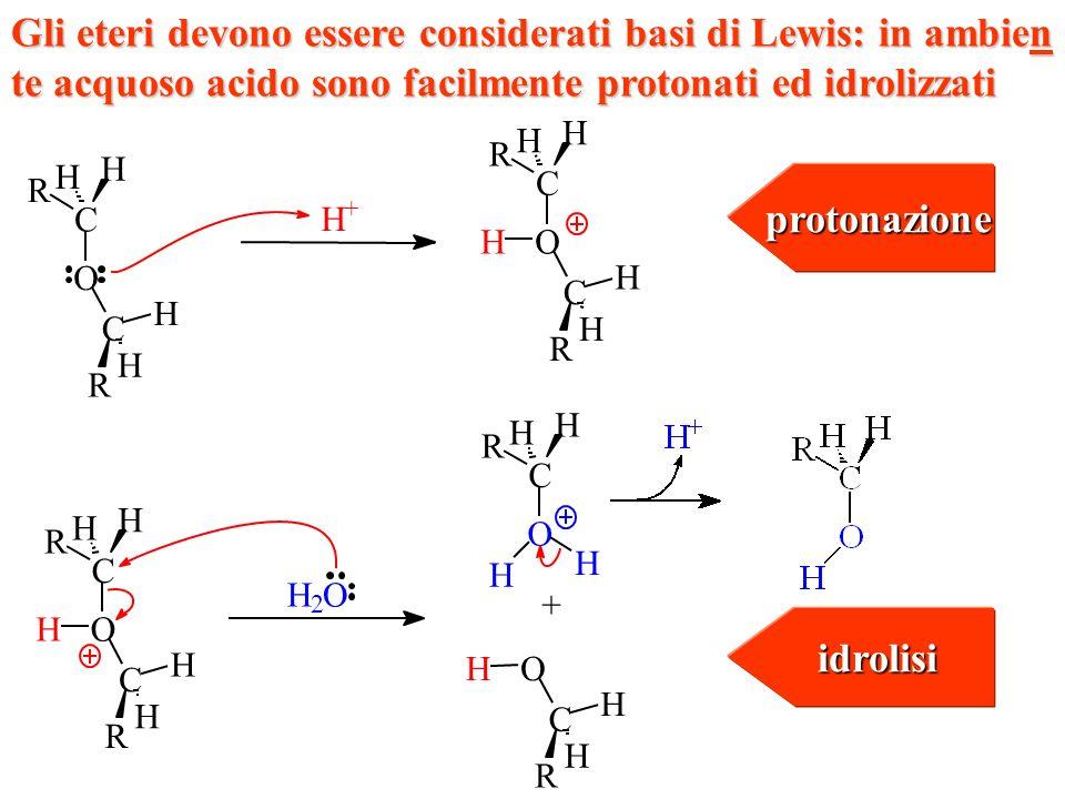 protonazione idrolisi