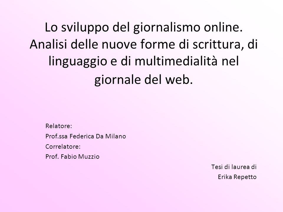 Lo sviluppo del giornalismo online