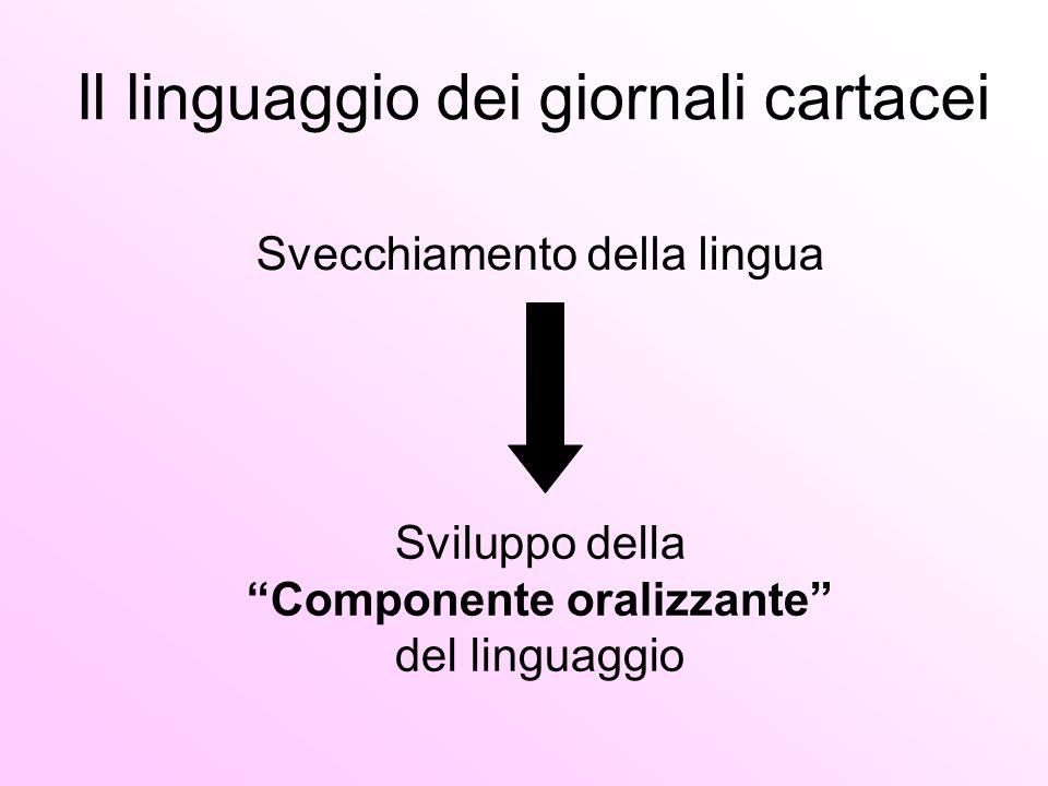 Il linguaggio dei giornali cartacei