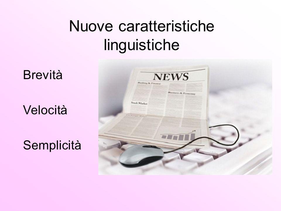 Nuove caratteristiche linguistiche