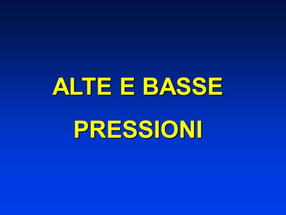 ALTE E BASSE PRESSIONI