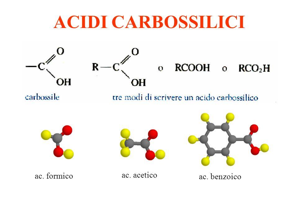 ACIDI CARBOSSILICI ac. formico ac. acetico ac. benzoico