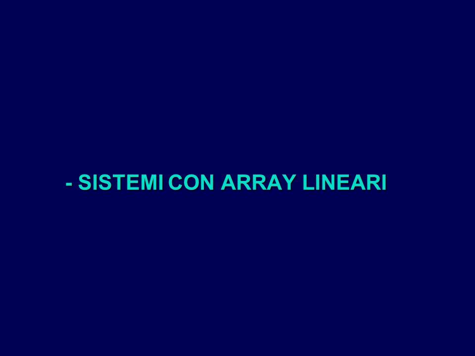 - SISTEMI CON ARRAY LINEARI