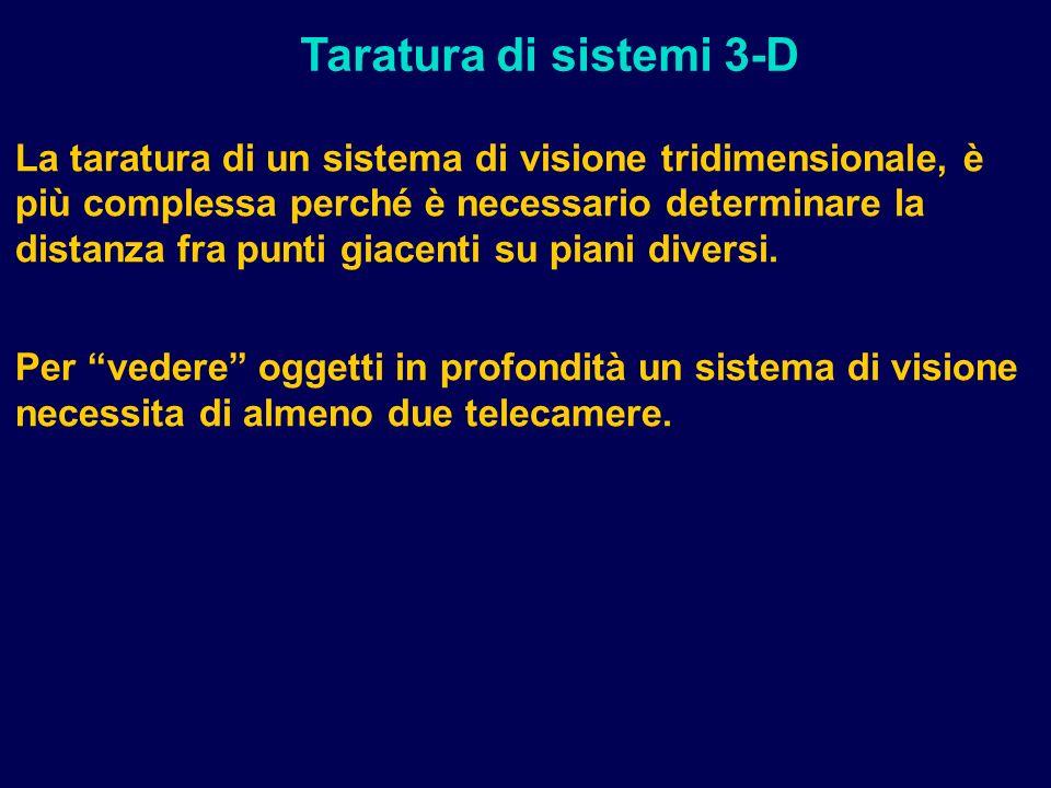 Taratura di sistemi 3-D