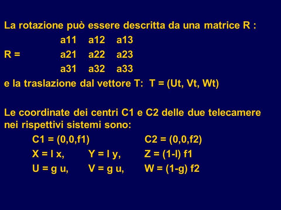 La rotazione può essere descritta da una matrice R : a11 a12 a13