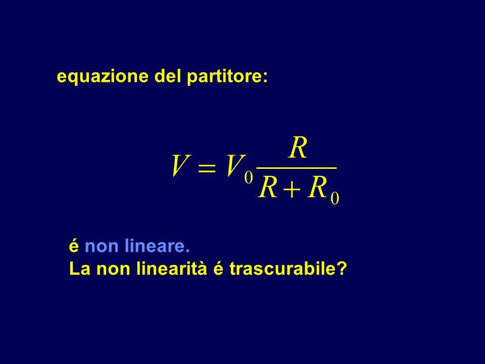 R V  V R  R equazione del partitore: é non lineare.