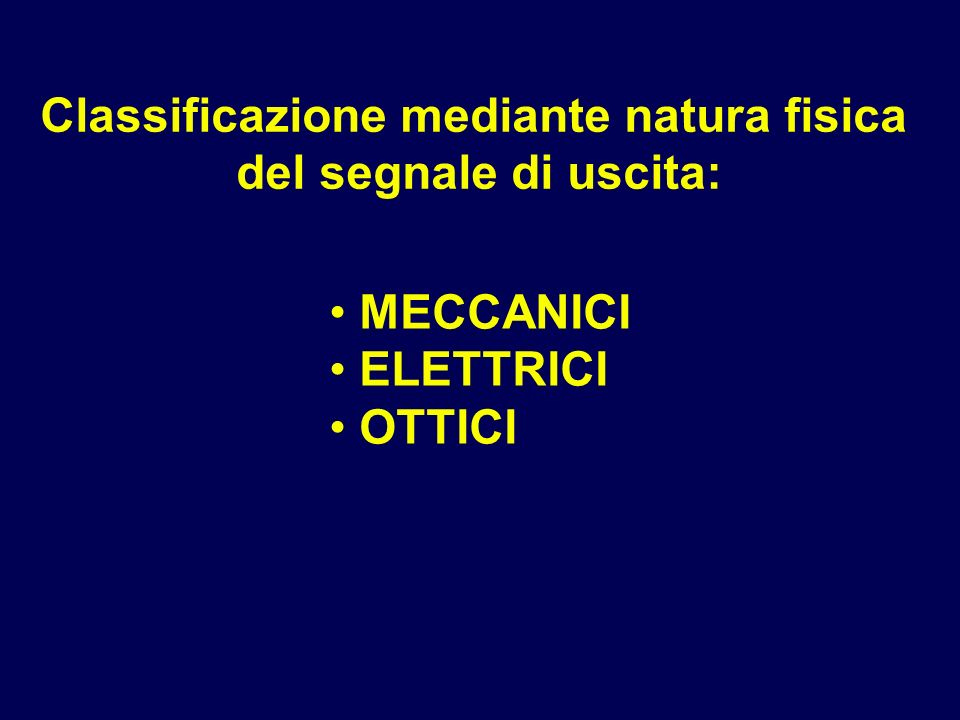 Classificazione mediante natura fisica